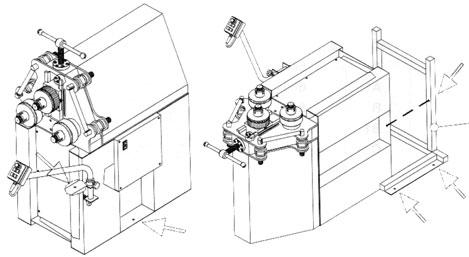 Vertikalna i horizontalna instalacija mašine
