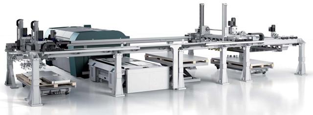 SALVAGNINI L3 - integrisan u liniju za automatsko postavljanje/skidanje table