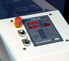 Upravljački panel sa POS 100 NC jedinicom za upravljanje pozicijom motornog zadnjeg graničnika (opcija)